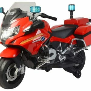 Officially Licensed BMW R 1200 RT Police Motorcycle Rechargeable Battery Operated Ride-on Bike for Kids ( 2 to 7), Red-0