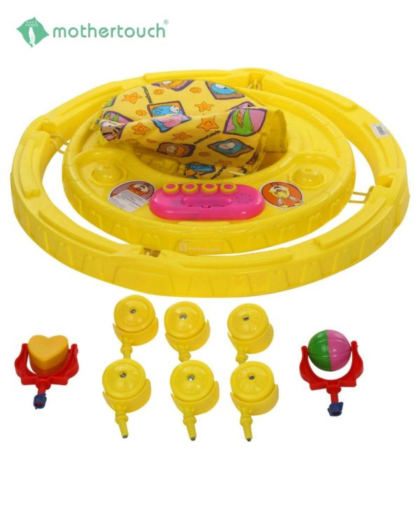Chikoo Round Walker DX Yellow-858
