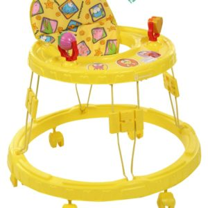 Chikoo Round Walker-Yellow-0