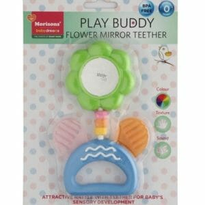 Play Buddy Ring rattle with Flower mirror teether-0