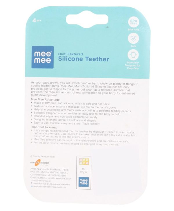 Mee Mee multi Texture Silicone Teether A-1687