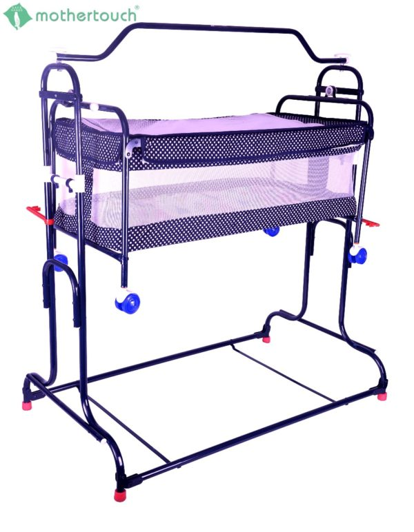 Mothertouch high compact cradle Dotted Blue-1744