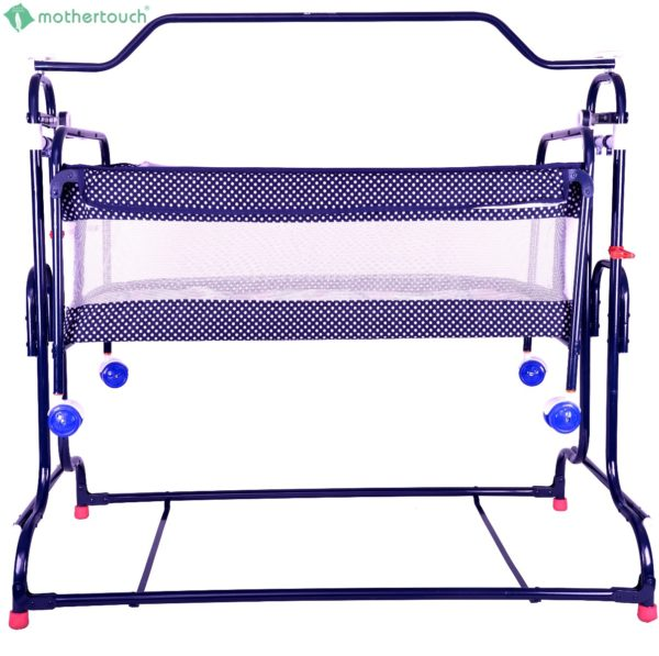 Mothertouch high compact cradle Dotted Blue-1745
