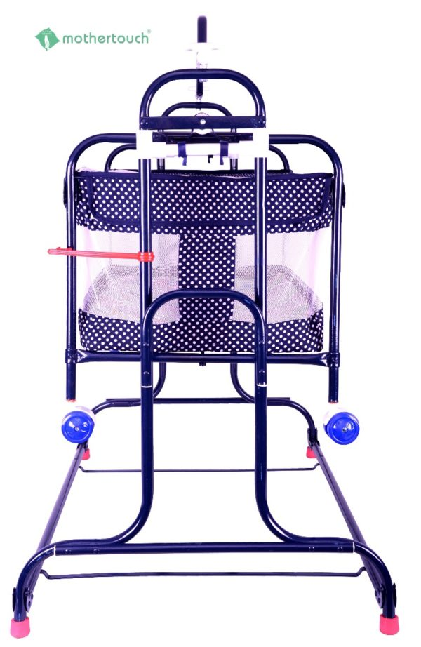 Mothertouch high compact cradle Dotted Blue-1746