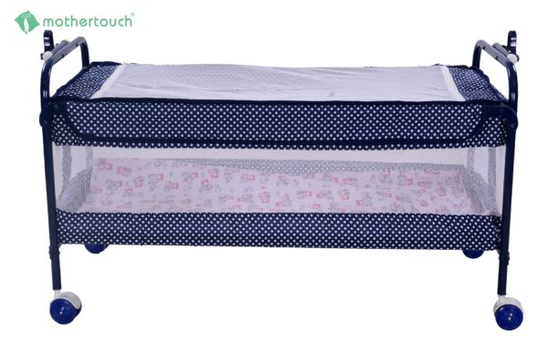 Mothertouch high compact cradle Dotted Blue-1747