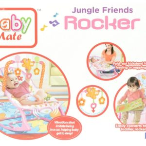 BabyMate Jungle rocker Pink-0