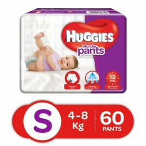 Huggies Small Size Baby Diapers 60 Pants-0