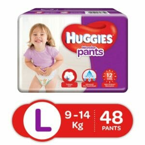 Huggies Large Size Baby Diapers 48 Pants -0