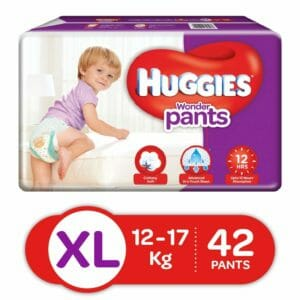 Huggies XL Size Baby Diapers 42 Pants-0