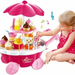 Baby On Boards Ice Cream Kitchen Play Cart Kitchen Set Toy With Lights And Music -Small-0