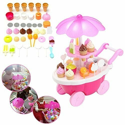 Baby On Boards Ice Cream Kitchen Play Cart Kitchen Set Toy With Lights And Music -Small-3119