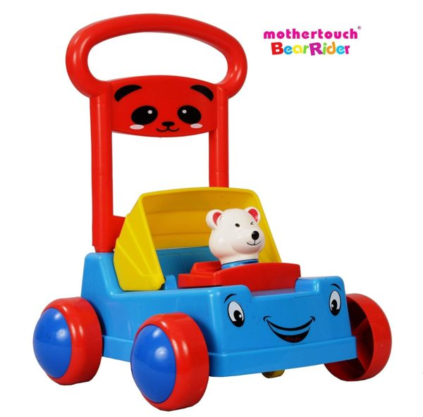 Mothertouch Bear Rider Ride On for Infants, Blue-3491