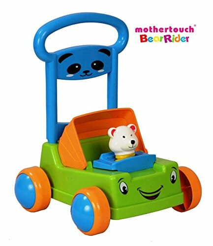 Mothertouch Bear Rider Ride On for Infants, Green -0