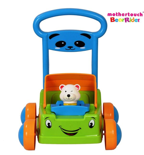 Mothertouch Bear Rider Ride On for Infants, Green -3500