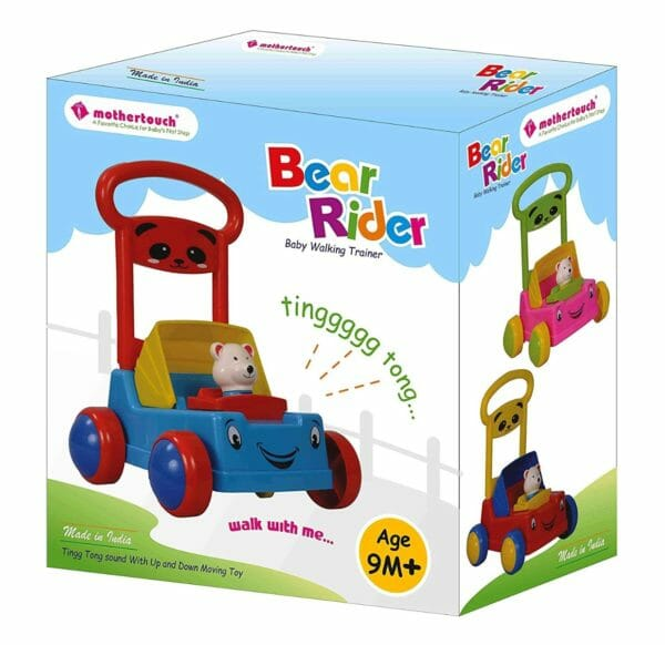 Mothertouch Bear Rider Ride On for Infants, Red -3483