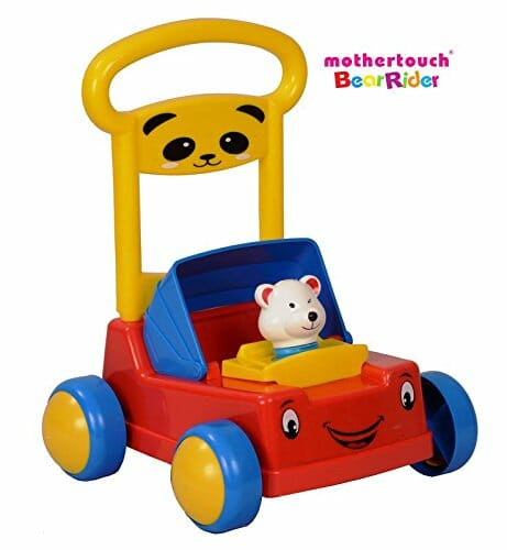 Mothertouch Bear Rider Ride On for Infants, Red -0