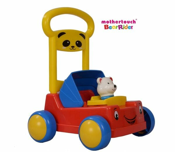 Mothertouch Bear Rider Ride On for Infants, Red -3484