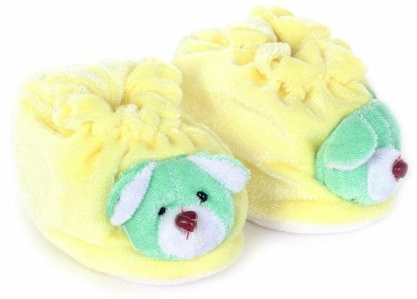 Morison Baby Dreams Baby Booties Animal Face - Yellow-0