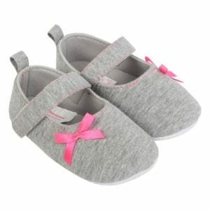 Morisons Baby Dreams Baby Shoes- Grey Girl -0